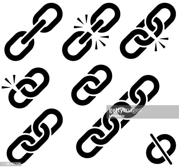 link - link chain part stock illustrations