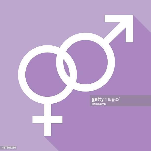 ilustraciones, imágenes clip art, dibujos animados e iconos de stock de vinculadas macho y hembra de símbolos - símbolo de género