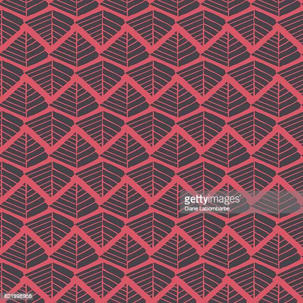 Linocut Block Print Repeating Textile Pattern