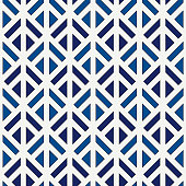 Linocut style geometric seamless pattern. Minimal geo suface print. Repeated triangles, geometrical shapes background