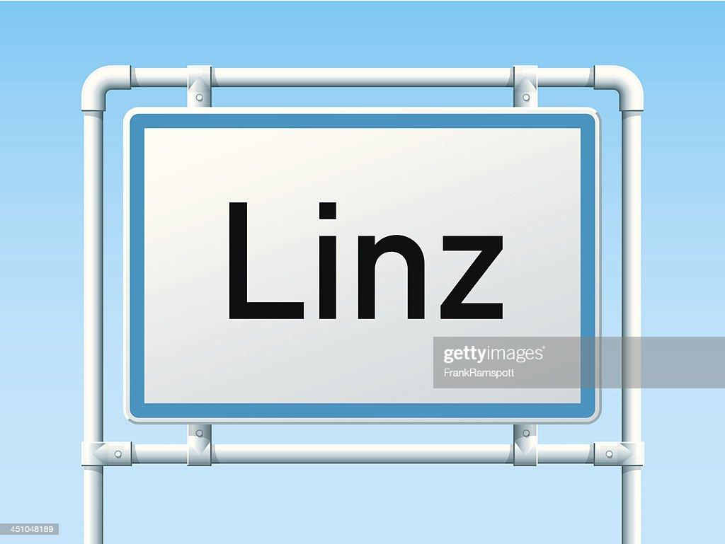 Linz Austria City Road Sign : stock illustration
