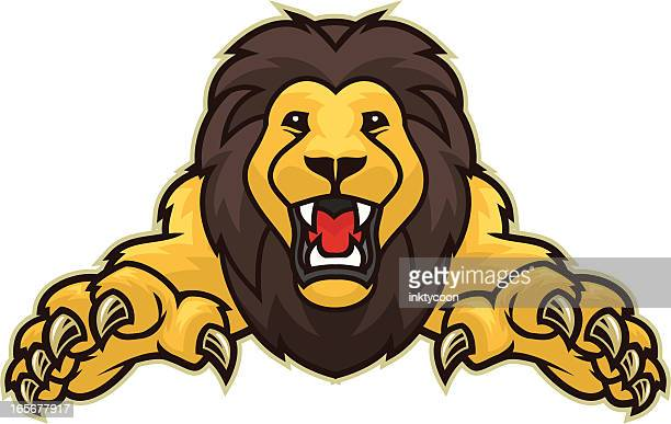lion attack - claw stock illustrations, clip art, cartoons, & icons