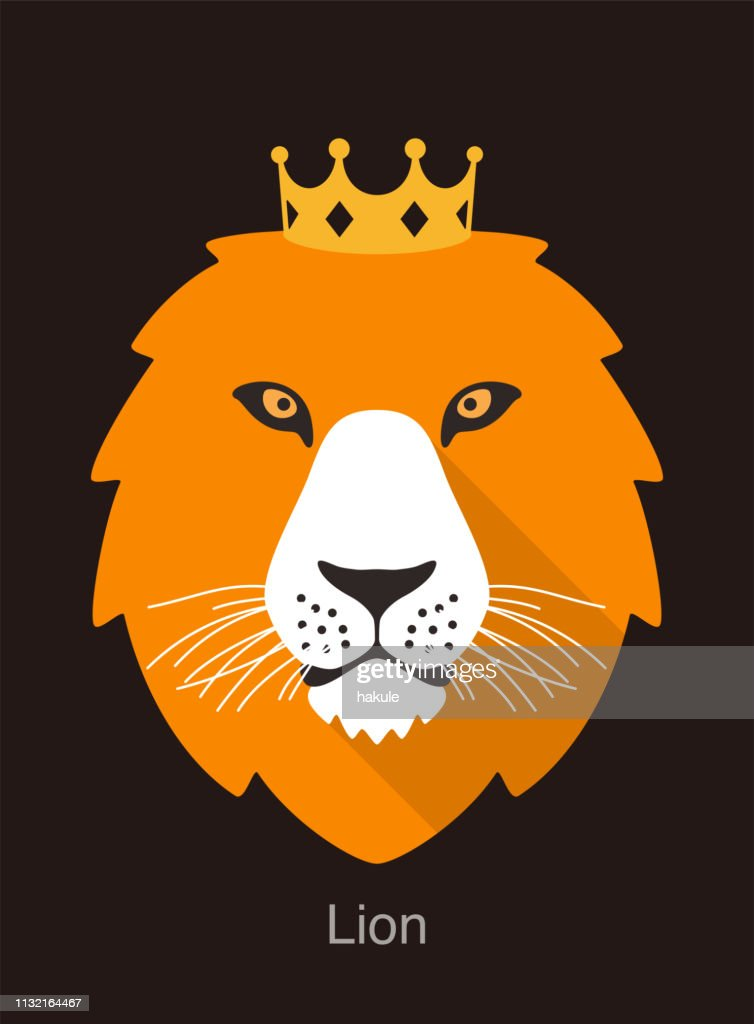 Lion Cartoon Face With Crown Flat Animal Face Icon Vector High Res Vector Graphic Getty Images The lion stands for england and the unicorn for scotland. lion cartoon face with crown flat animal face icon vector high res vector graphic getty images