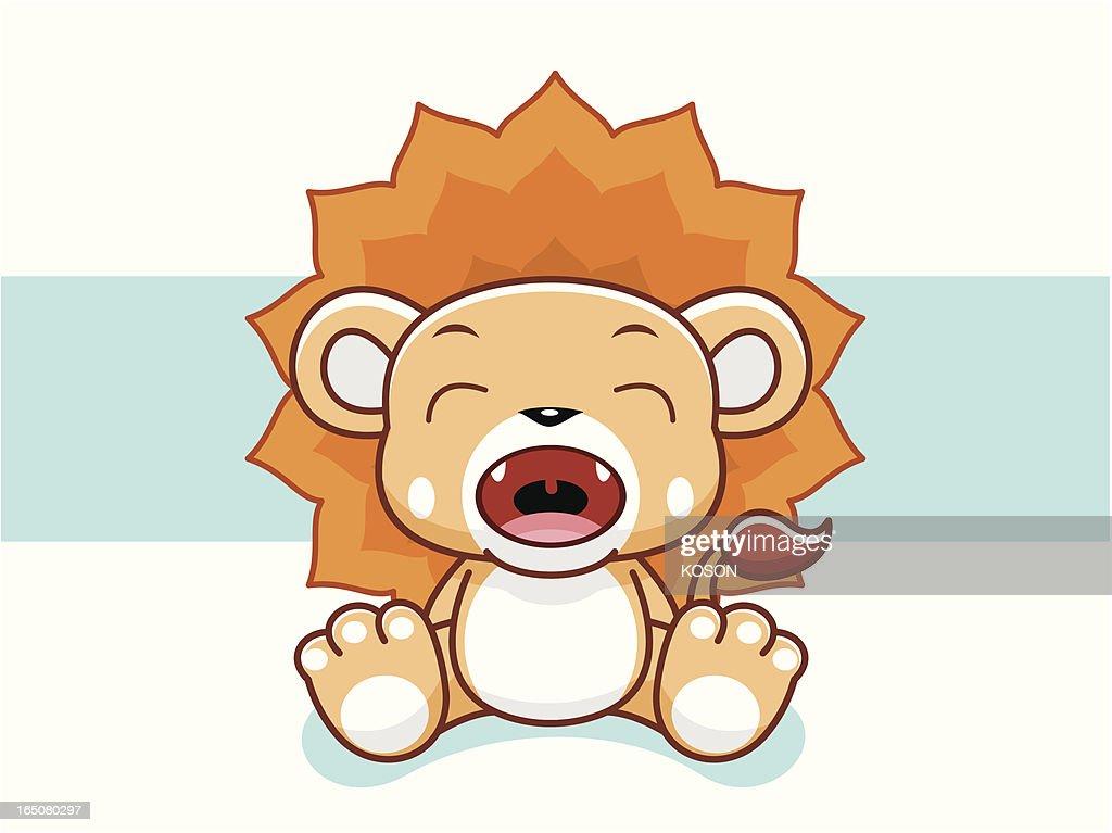 Lion Cartoon : stock illustration