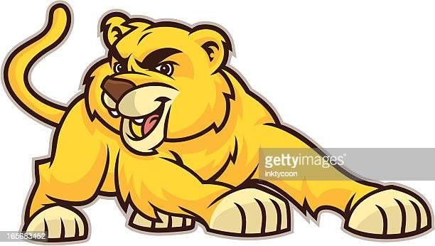 ilustraciones, imágenes clip art, dibujos animados e iconos de stock de cachorro de león - puma