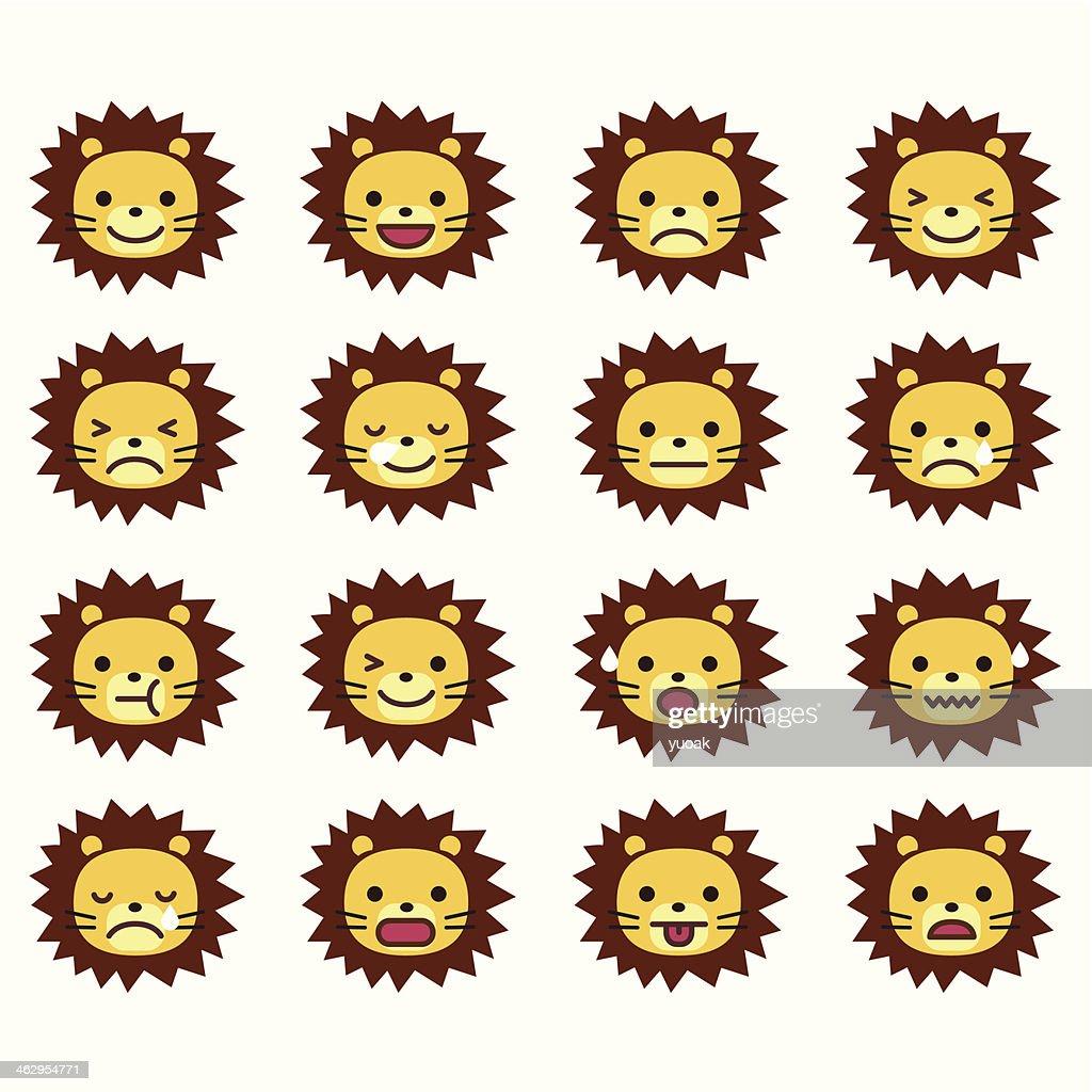Lion Emoticons