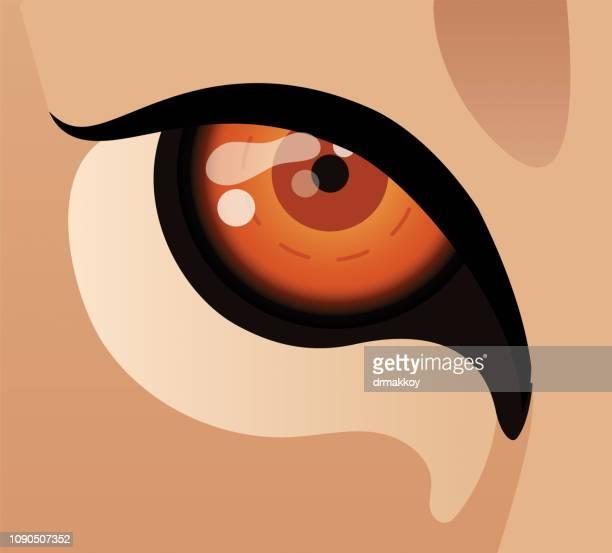 lion eye - roaring stock illustrations