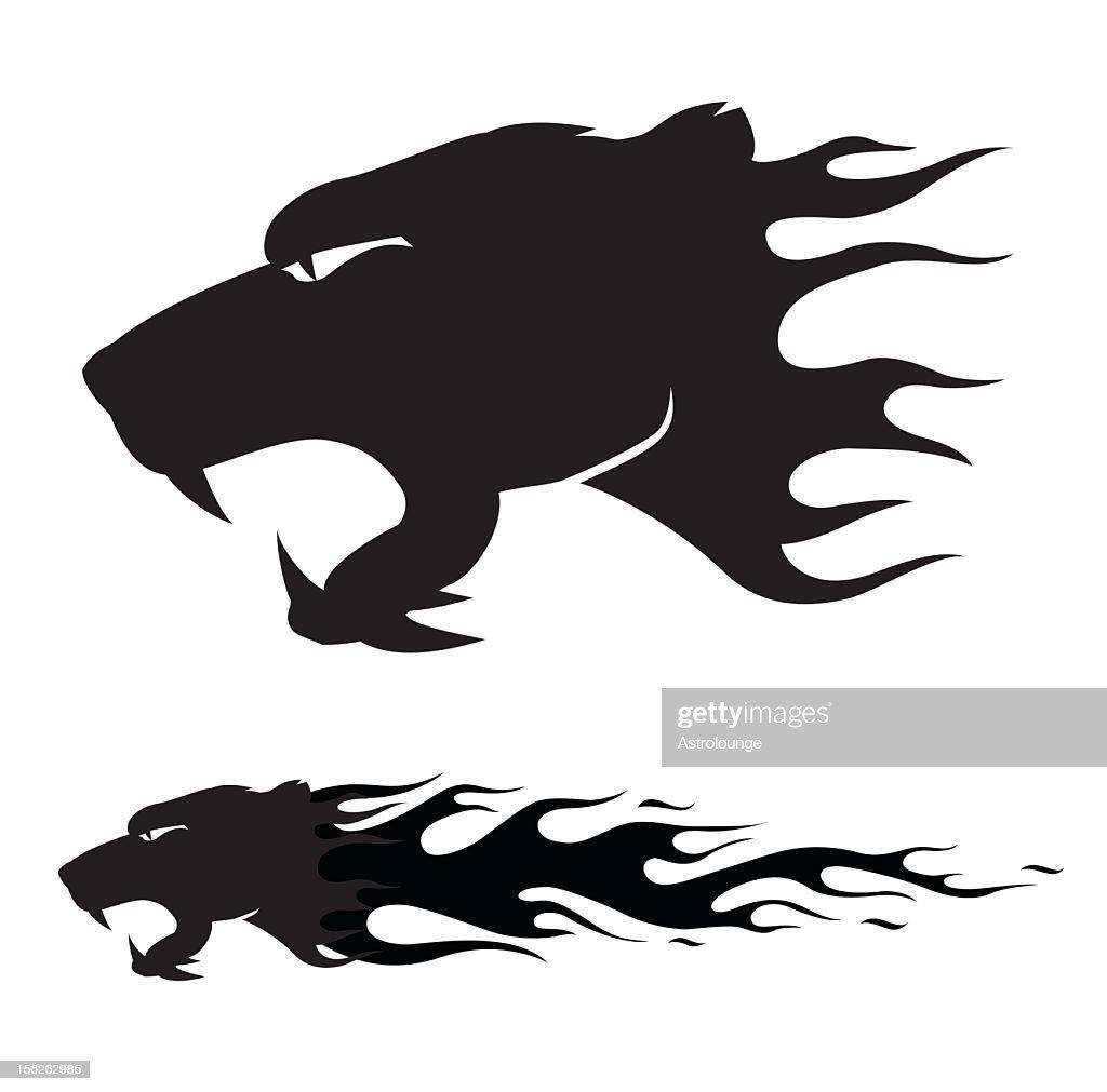 lion flame : stock illustration