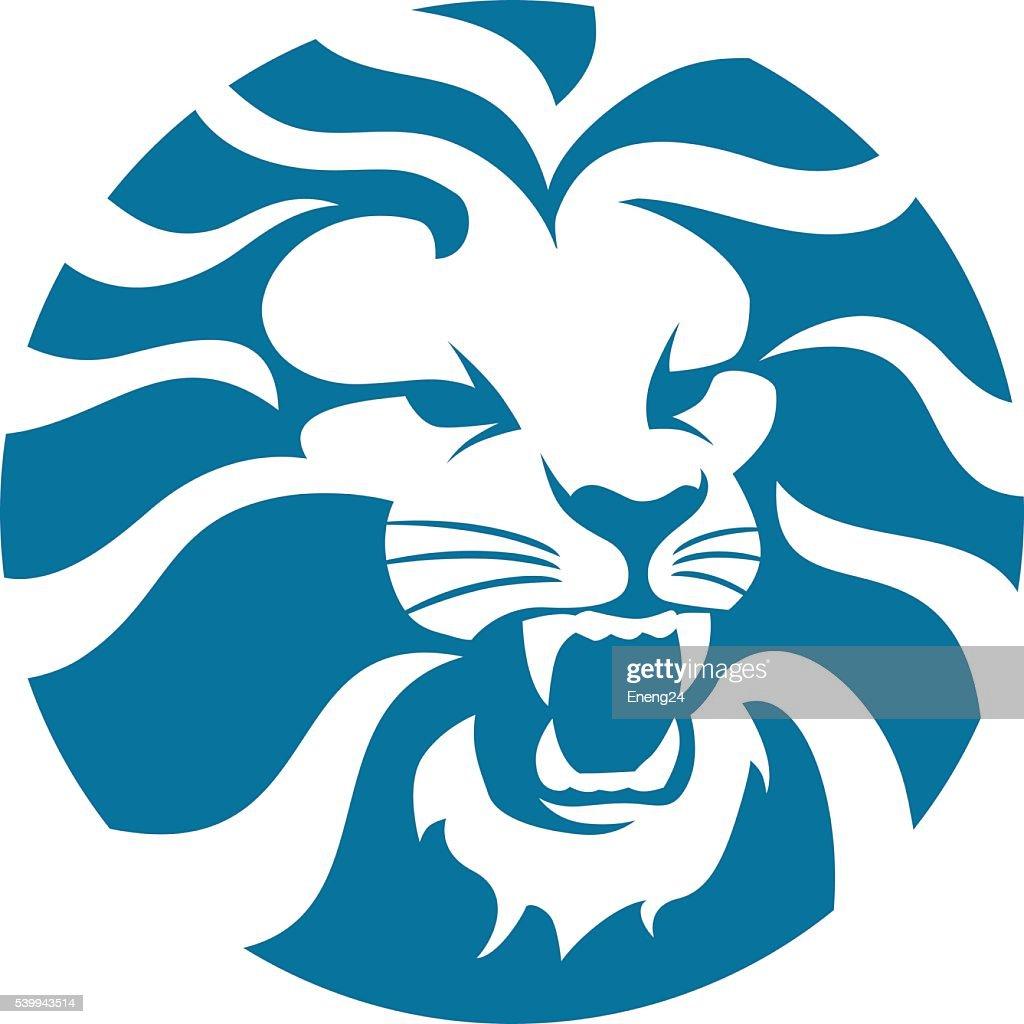 Lion head angry circle