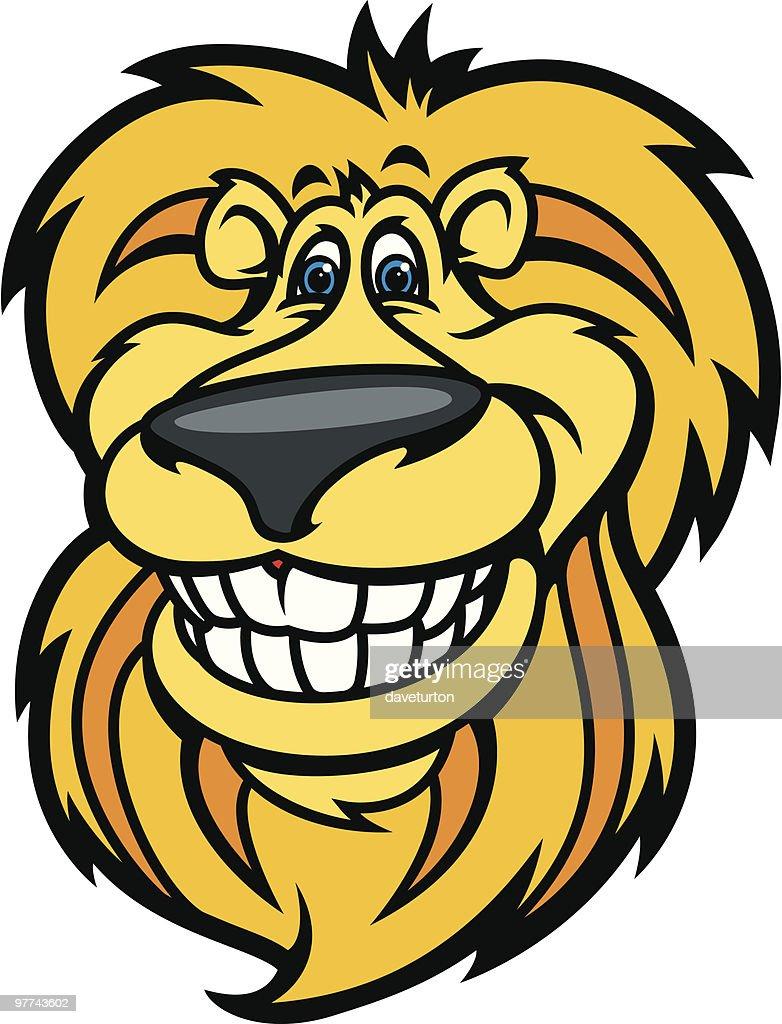 Lion Head Happy : stock illustration