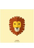Lion Head in flat style. Vector Illustration