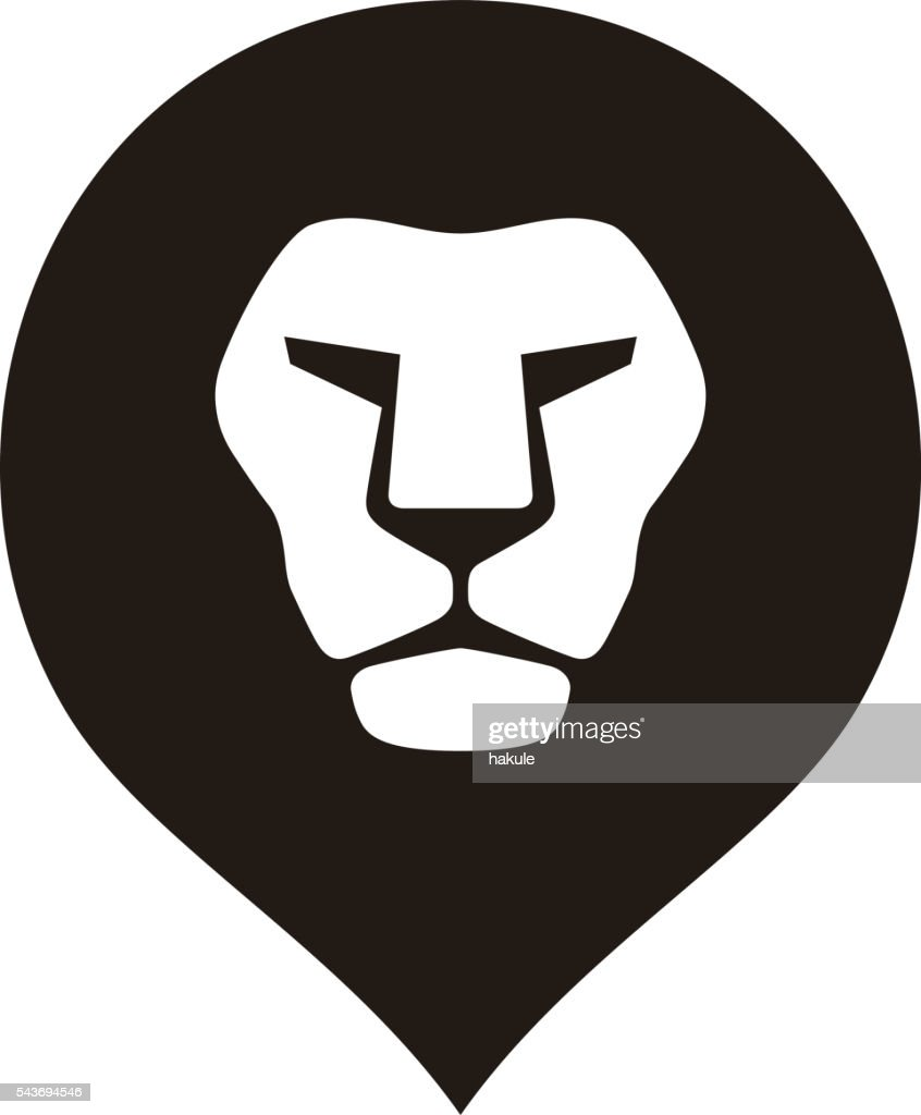 lion head logo icon, vector illustration