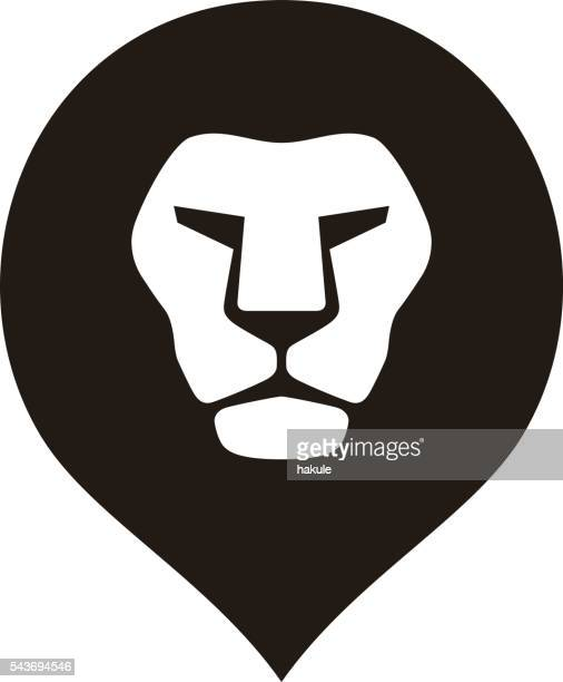 ilustrações, clipart, desenhos animados e ícones de lion head logo icon, vector illustration - animal mane