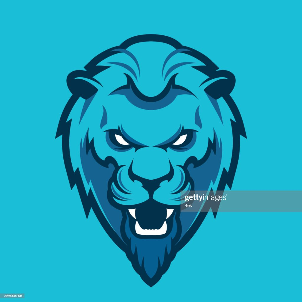 Lion head sport logo