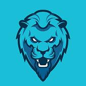 Lion head sport logo