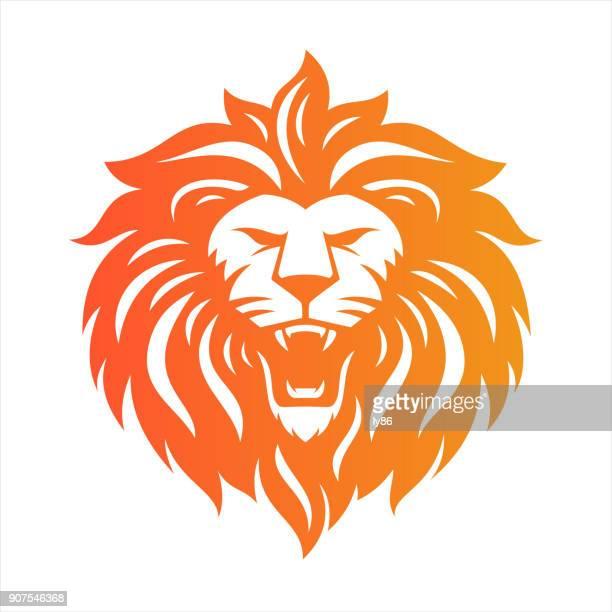 illustrations, cliparts, dessins animés et icônes de tête de lion  - lion