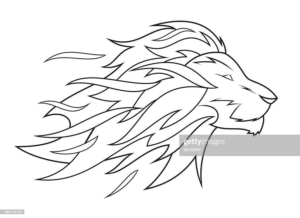 Lion head vector illustration 4