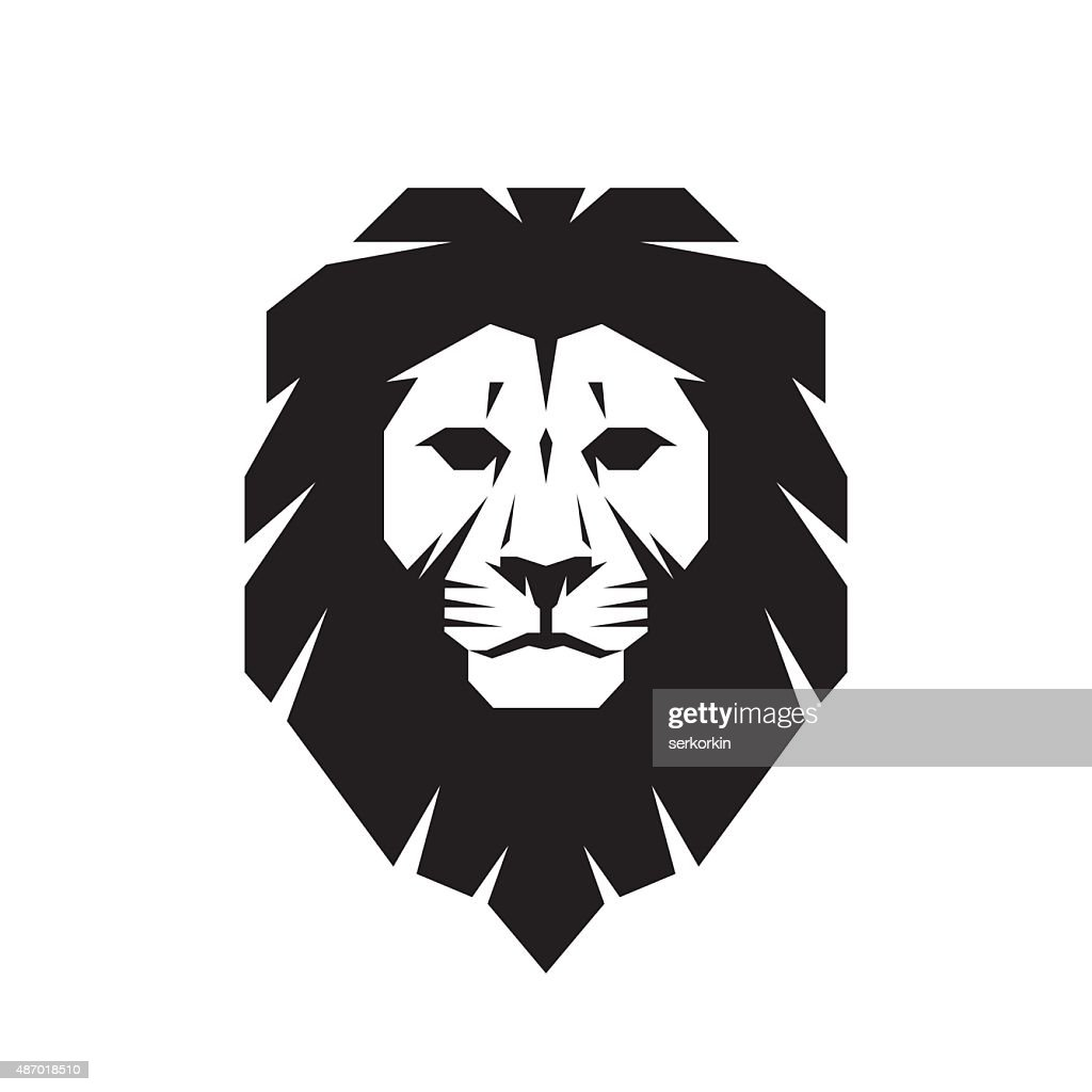 Lion head - vector sign concept illustration.
