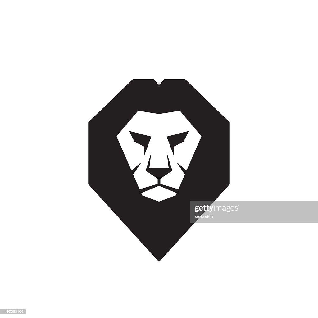 Lion head - vector sign concept illustration.