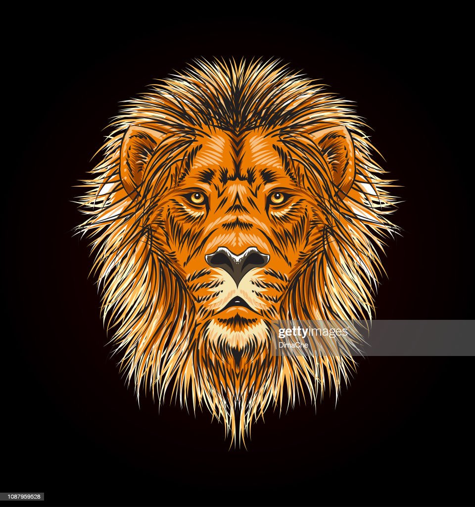 Lion Head With Mane Vector Sketch Style Illustration High Res Vector Graphic Getty Images Lions clipart black and white. lion head with mane vector sketch style illustration high res vector graphic getty images