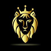 Lion icon gold design icon illustration