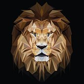 Lion low poly design
