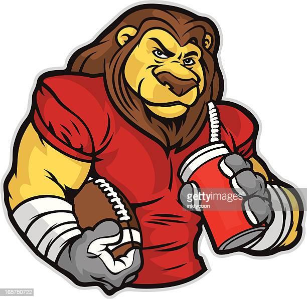 Lion Mascot Football