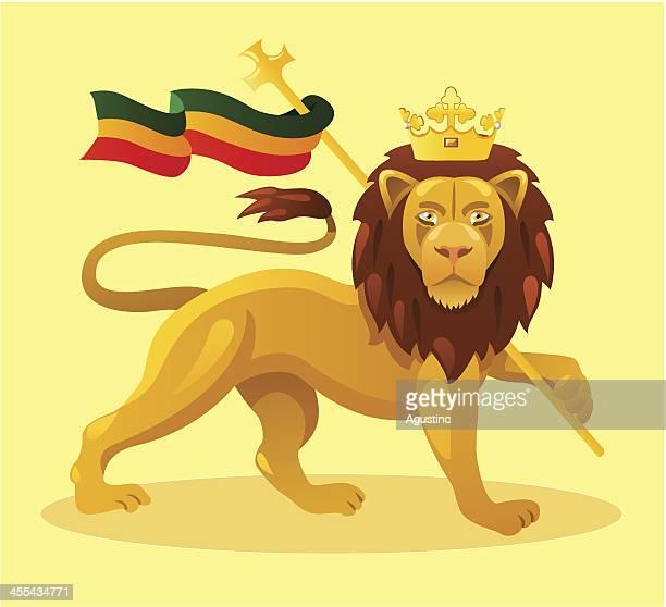ilustrações, clipart, desenhos animados e ícones de leão de judah - ethiopia