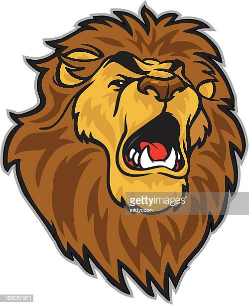 ilustrações, clipart, desenhos animados e ícones de leões irão rugir - animal mane