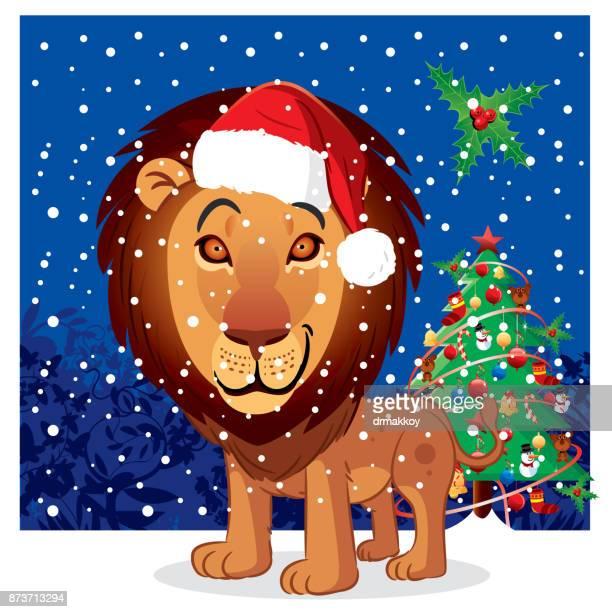 lion, santa claus - ethiopia stock illustrations, clip art, cartoons, & icons