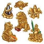 Lion, snake, Poseidon and other symbols of worship