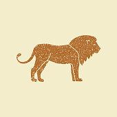 Lion vector icon logo