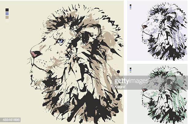 lion - lion feline stock illustrations