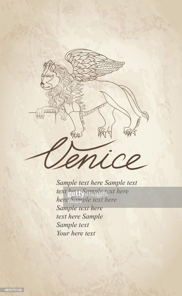 Lion. Venice label.