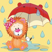 Lion with umbrella