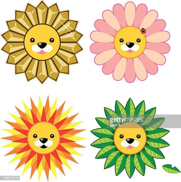 lion's mane - animal mane stock illustrations, clip art, cartoons, & icons