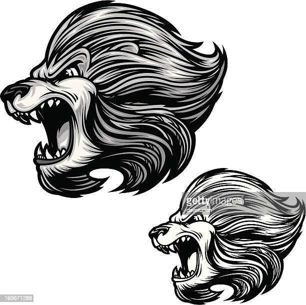 Lions Roar B&W