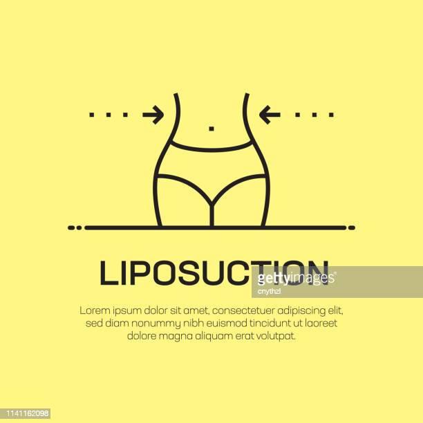 illustrations, cliparts, dessins animés et icônes de icône de ligne de vecteur de liposuccion-icône simple de ligne mince, élément de conception de qualité supérieure - chirurgie esthetique
