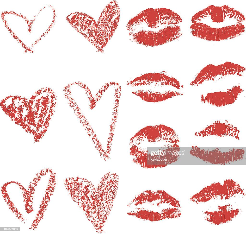 Lips and Hearts Set