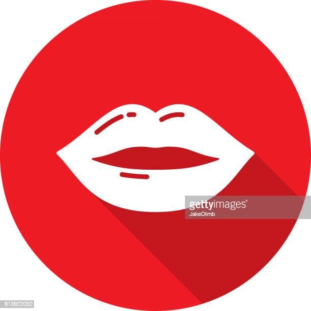 lips icon silhouette - lip gloss stock illustrations, clip art, cartoons, & icons