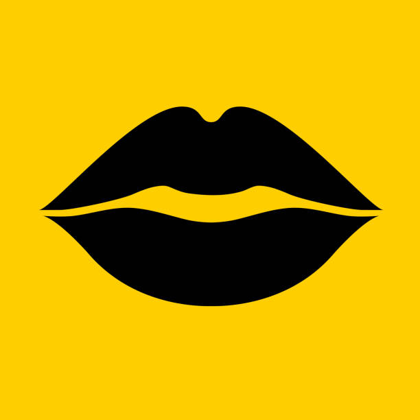 lips kiss. - lips stock illustrations