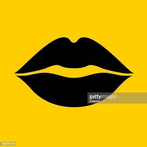 Lips kiss.