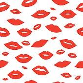 Lips pattern background vector illustration