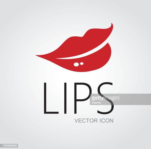 ilustrações, clipart, desenhos animados e ícones de símbolo de lábios - lábio