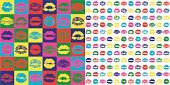 Lipstick KISS PATTERN