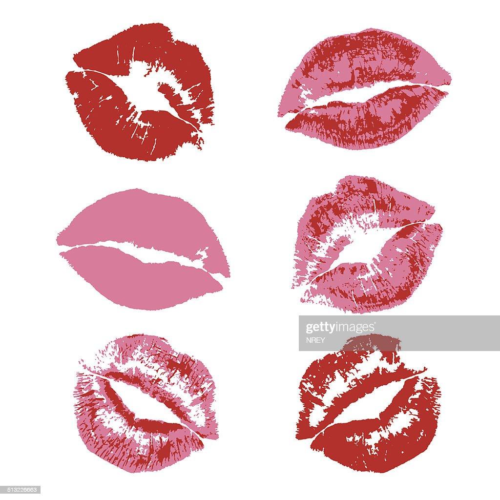 Lipstick kiss print