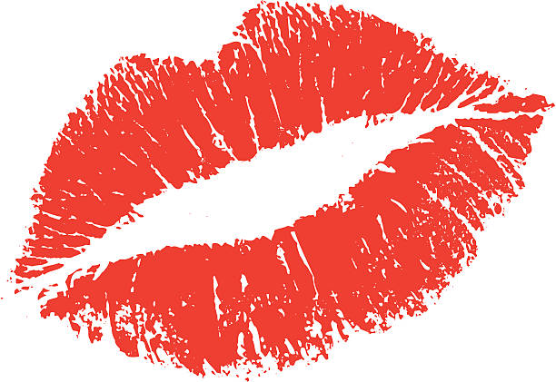lipstick kiss shape - lips stock illustrations