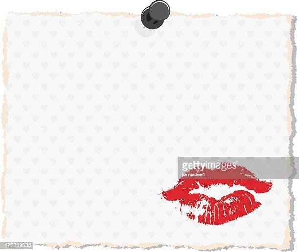 lipstick kiss - lipstick kiss stock illustrations, clip art, cartoons, & icons