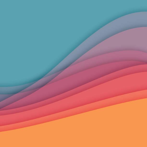 液體抽象背景 - 彩色影像 幅插畫檔、美工圖案、卡通及圖標