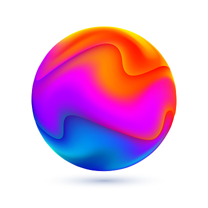 Liquid Colors Abstract Sphere - gettyimageskorea
